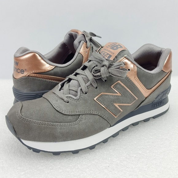 plus récent bde47 4e739 New Balance 574 Bronze Rose Gold Gray Fashion Shoe NWT